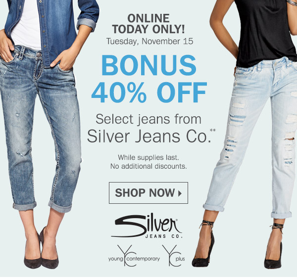 Younkers: 40% off select Jeans from Silver Jeans Co. (Online ...