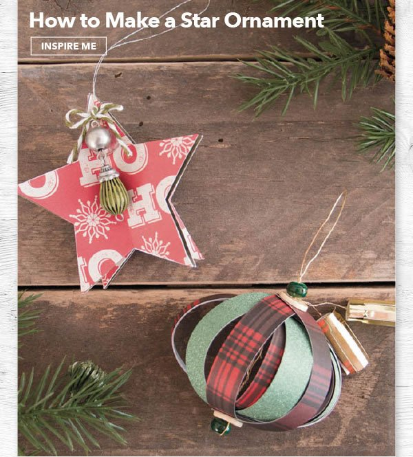 How to Make a Star Ornament. INSPIRE ME.