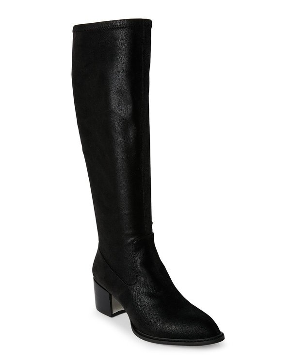Black Sunshine Block Heel Tall Boots