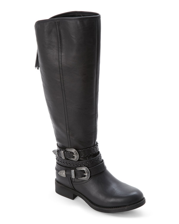 Black Paris Carrage Tall Boots