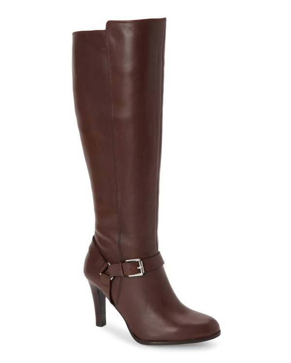 Dark Brown Bria High Heel Tall Boots