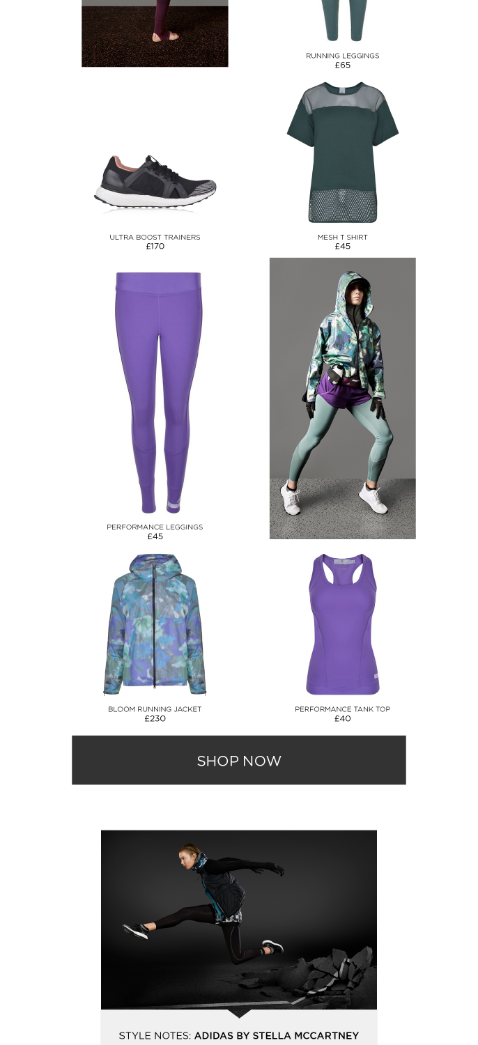 Flannels: adidas by Stella McCartney   Hit the ground running with