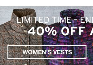 40% OFF ALL VESTS | WOMEN'S VESTS