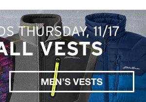 40% OFF ALL VESTS | MEN'S VESTS