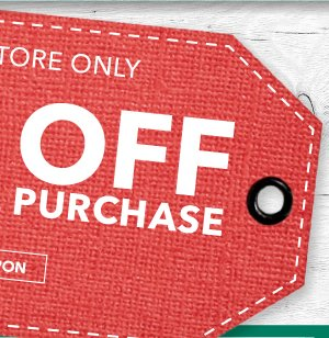 In-Store Only 20% off Your Total Purchase. Get coupon.