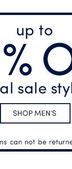Up to 60% Off Final Sale! Shop Men's
