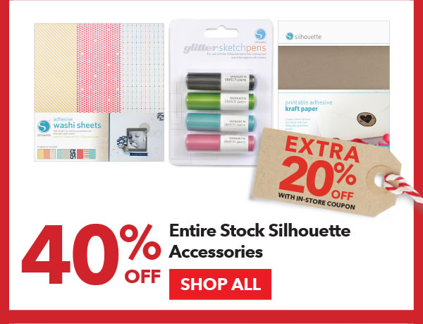 40% off + Extra 20% off with In-Store coupon Entire Stock Silhouette Accessories. SHOP ALL.