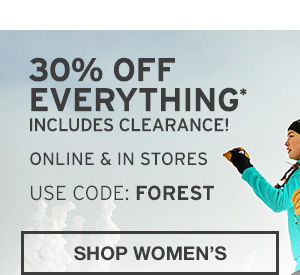 30% OFF EVERYTHING | SHOP WOMEN'S