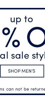 Up to 60% Off Final Sale! Shop Men's