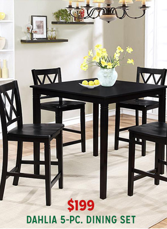 dahlia 5 pc dining set
