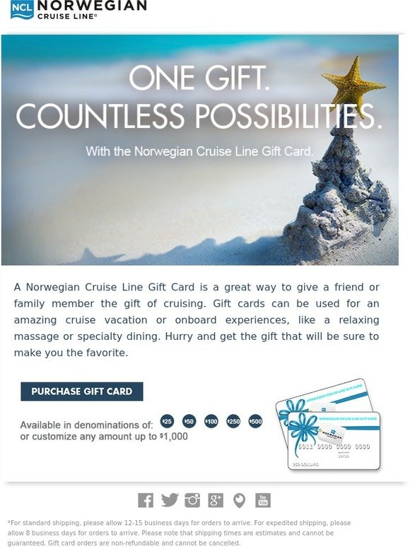 Ncl gift card