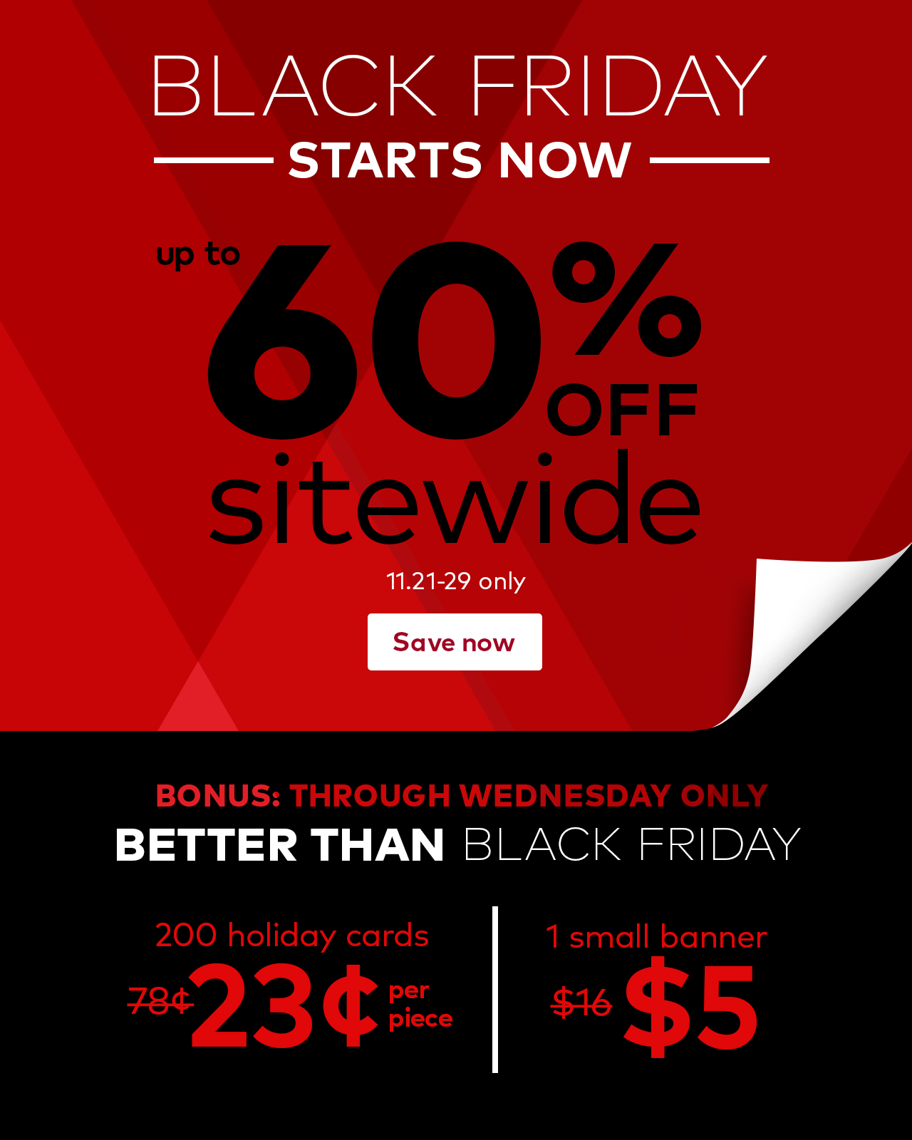 vistaprint ☷ black friday begins early up to 60 off plus
