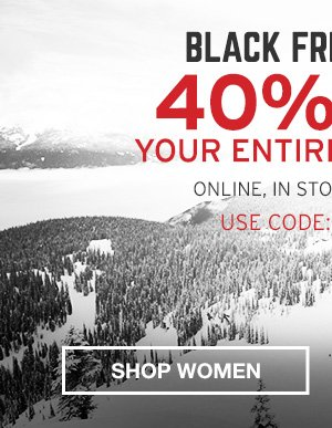 40% OFF YOUR ENTIRE PURCHASE | SHOP MEN'S