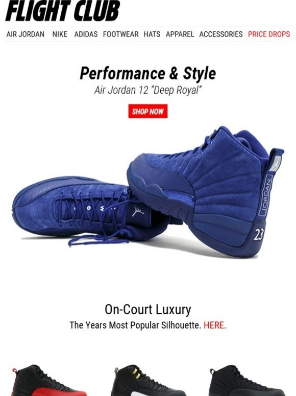 brand new 3b625 586a5 On-Court Luxury  The Air Jordan 12 Deep Royal, OVO, Flu Game, Heiress  Collection   more.