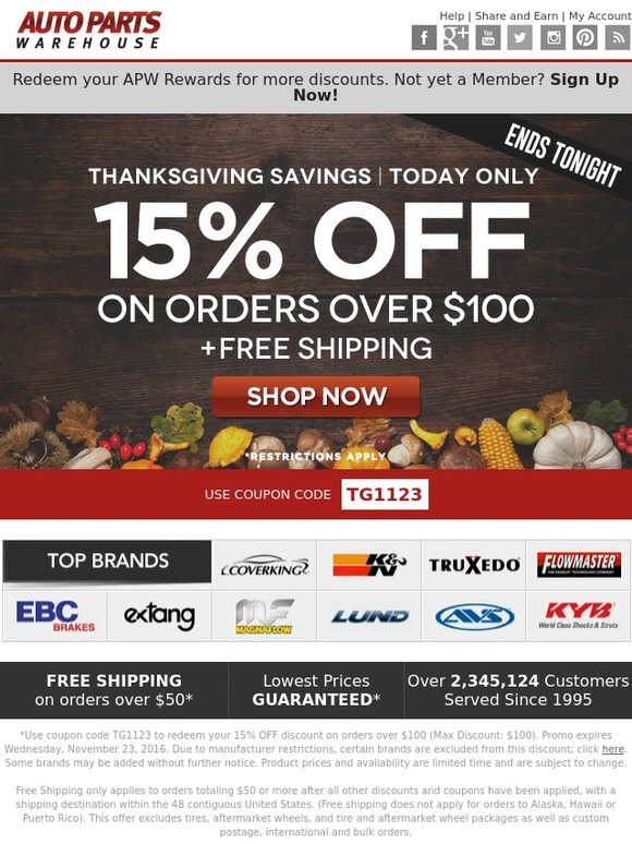 Auto Parts Warehouse Coupons & Deals Treat yourself to huge savings with Auto Parts Hassle-Free Savings · Daily Refreshed · Exclusive Coupon Codes · Manual Verified Offers.