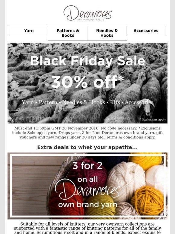 Deramores: 30% Off Black Friday Sale + 3 For 2 On Deramores