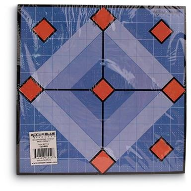 "Accu Blue Diamond Paper Shooting Targets, 10"" x 10"", 10 Pack"