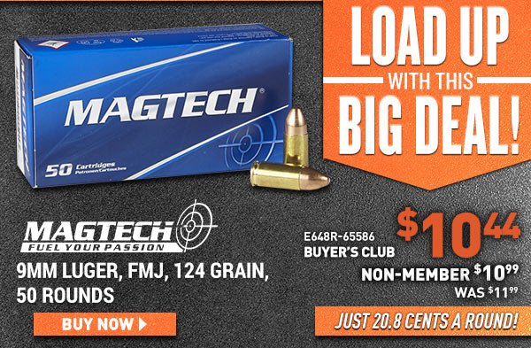 Magtech 9mm Luger, FMJ, 124 Grain, 50 Rounds