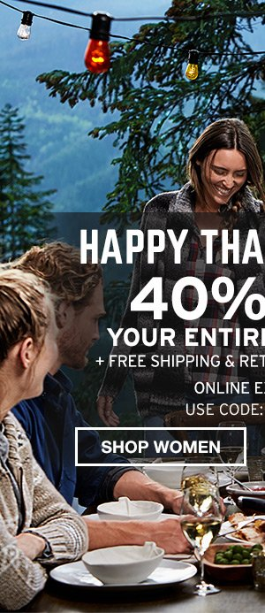40% OFF ENTIRE PURCHASE | SHOP MEN