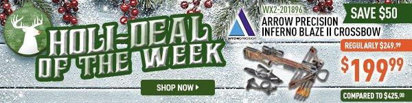 Holi-Deal of the Week - Arrow Precision Fall Camo Inferno Blaze II Crossbow