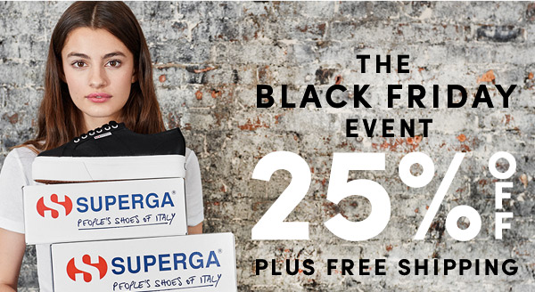 The Black Friday Event! 25% Off