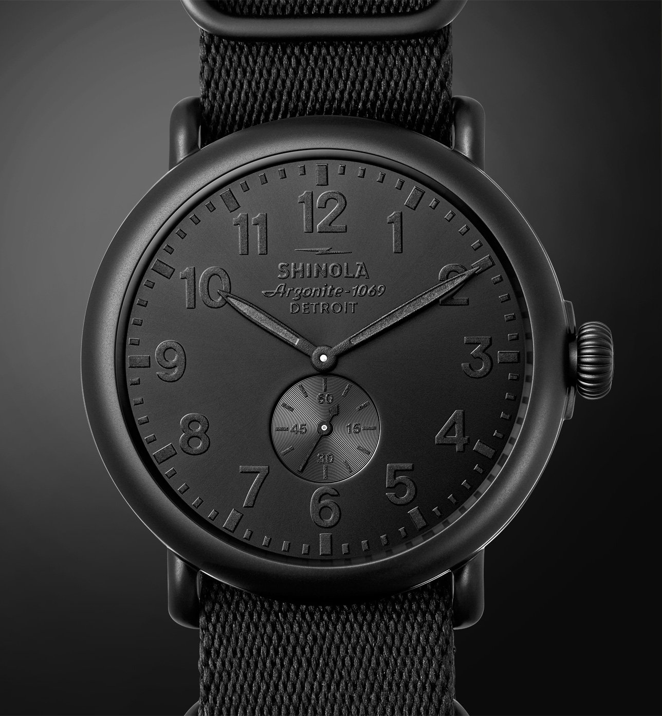 Shinola Detroit The Special Edition All Black Collection