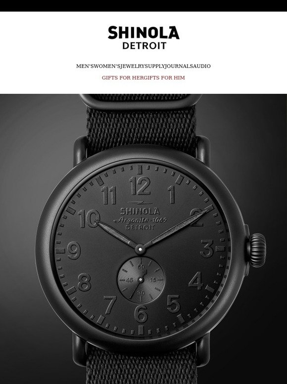 08ff13a2b29 Shinola Detroit  The Special Edition All Black Collection