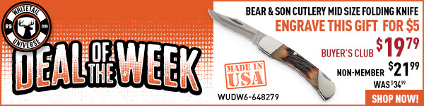 Deal of the Week: Bear & Son Cutlery Mid Size Folding Knife