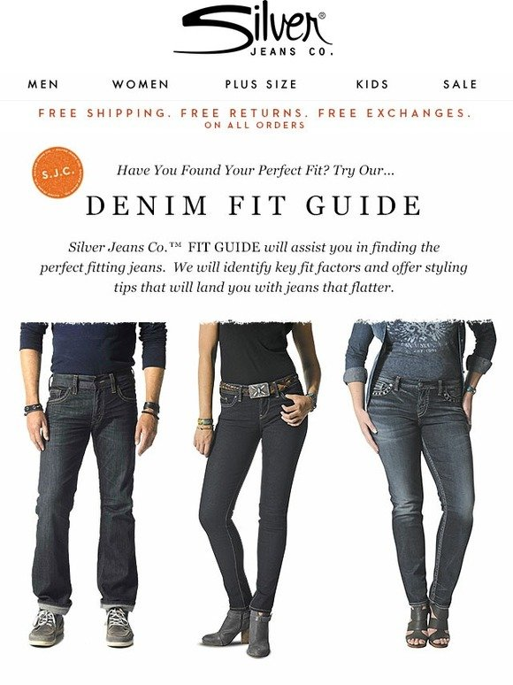 Silver Jeans Co.: Your Perfect Fit Is Easy To Find!   Milled