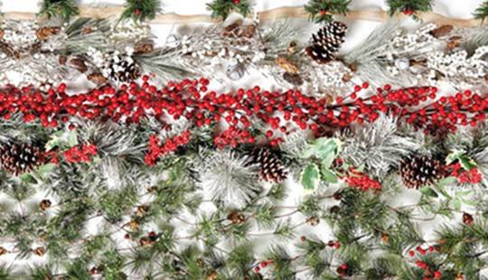 Doorbuster- 70% off Entire Stock Holiday Garlands, Stems & Wreaths