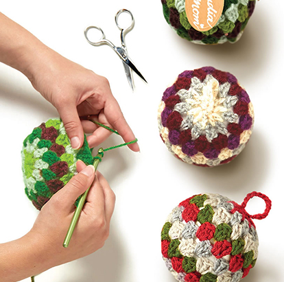 Best Class Offer Ever! Your Choice! 2 Holiday Classes $15 Each Granny Square Ornament or Fleece & Fur Stocking