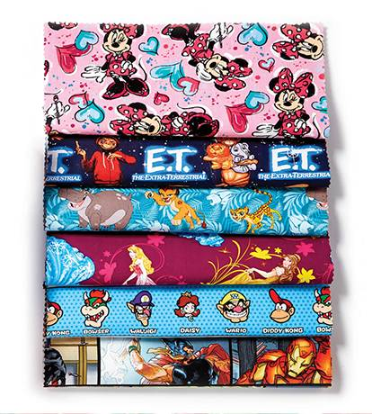 Doorbuster- 50% off Entire Stock Licensed Character Fabrics & No-Sew Throws