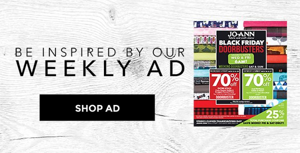 Be Inspired by our weekly ad