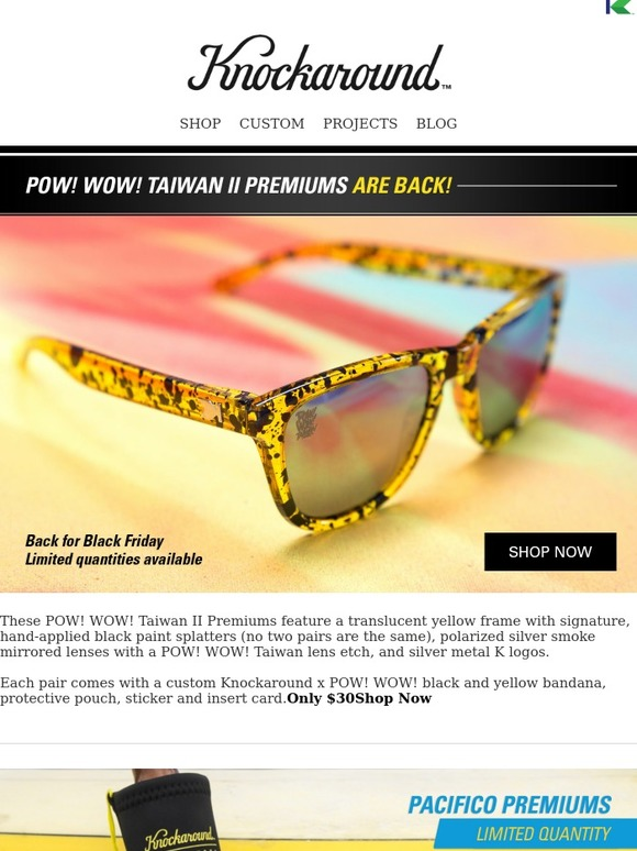 9e963d1704ff Knockaround  Special Releases Back For Black Friday!