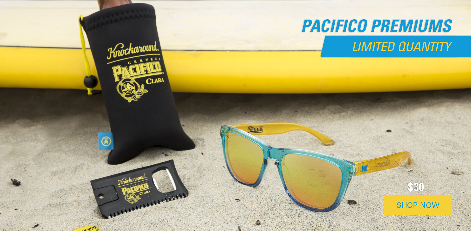 1e2b6af79cdf The Pacifico Premiums feature gradating Ocean Blue fronts (as clear as the  Pacific)