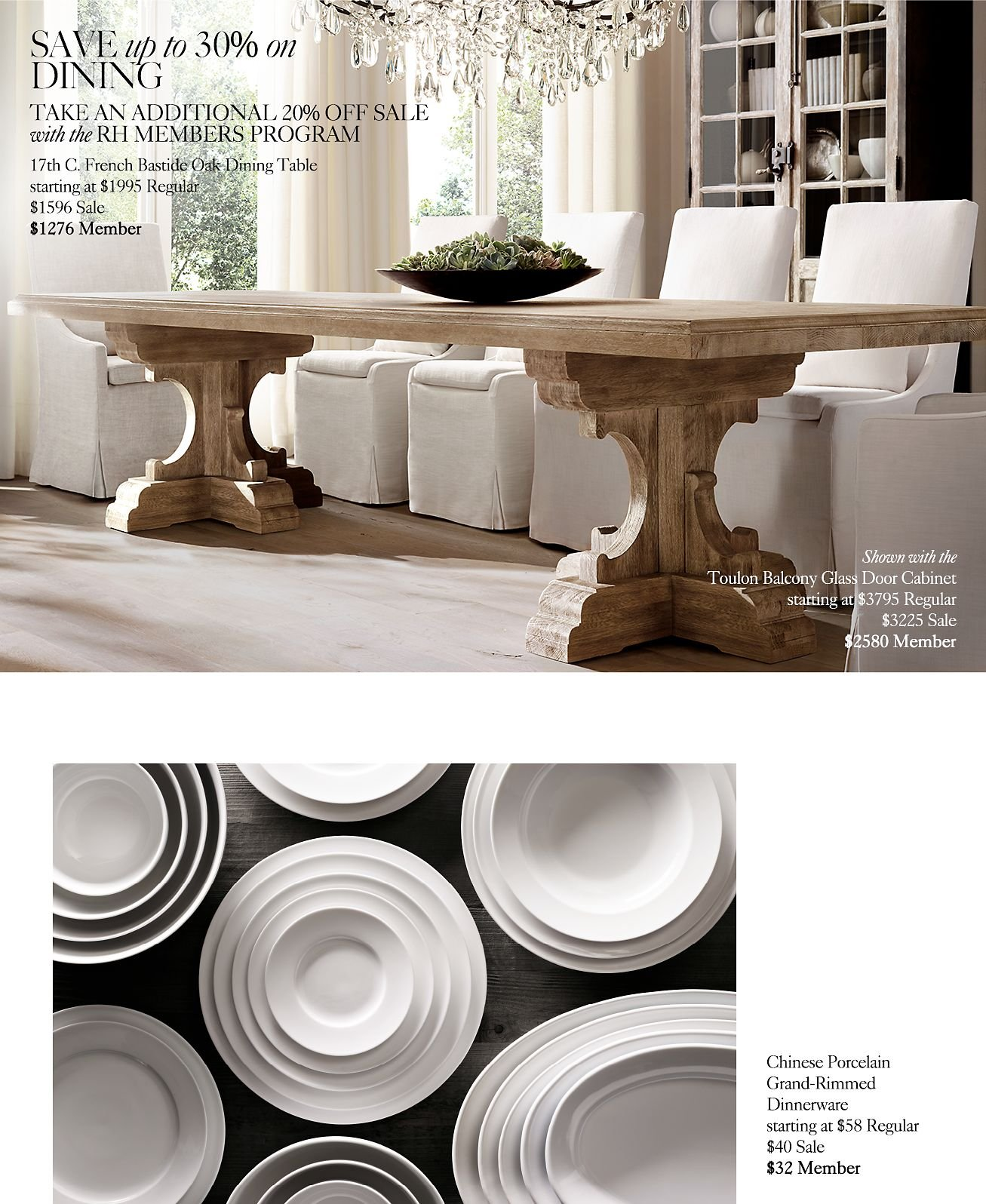 Restoration Hardware Sale: Restoration Hardware: The Fall Clearance Sale. Save Up To