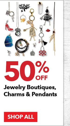 50% off Jewelry Boutiques, Charms & Pendants. SHOP ALL.