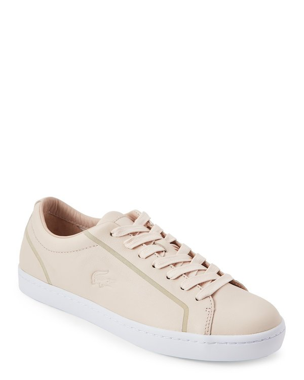 Light Pink Straight Set Low Top Sneakers