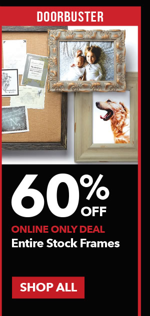 Doorbuster 60% off Entire Stock Frames. SHOP ALL.