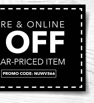 Valid In-store & Online 40% off Any One Regular-Priced Item. Promo code: NUWV366.