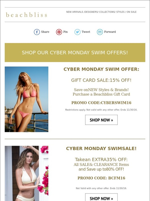 834dfaf43a Beachbliss: Shop Our Cyber Monday Swimwear Offers!   Milled