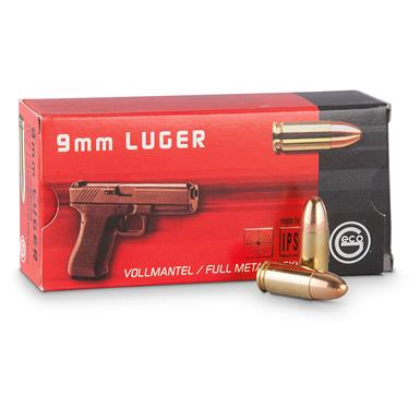 GECO, 9mm Luger, FMJ, 115 Grain, 500 Rounds