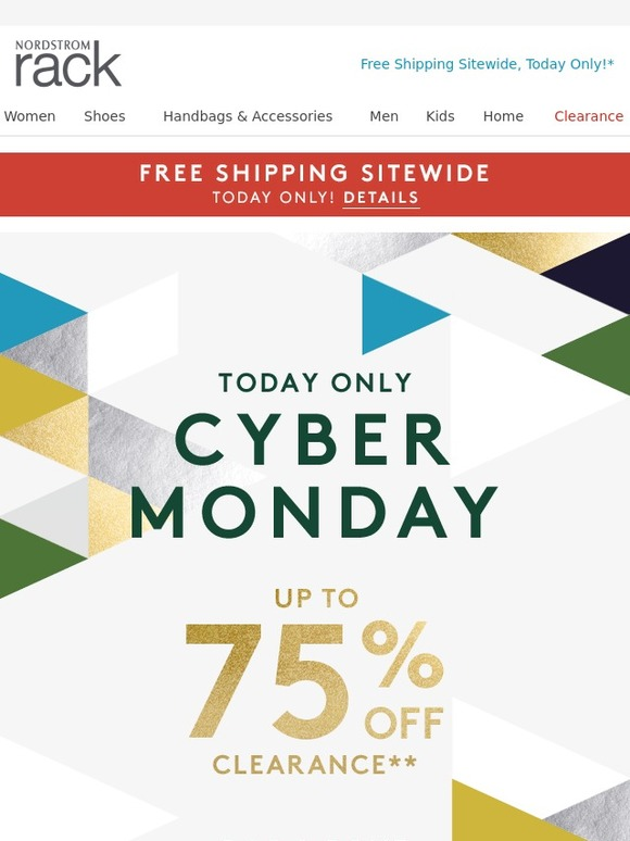 Oct 31,  · Free shipping has been available at skuleaswiru.cf for 30 of the last 30 days. Nordstrom Rack has offered a sitewide coupon (good for all transactions) for 30 of the last 30 days. The best coupon we've seen for skuleaswiru.cf was in November of and was for $25 off $