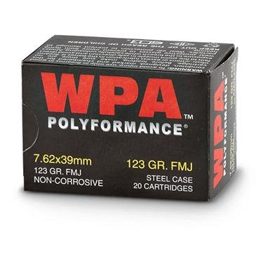 Wolf WPA Polyformance, 7.62x39mm, FMJ, 123 Grain, 500 Rounds