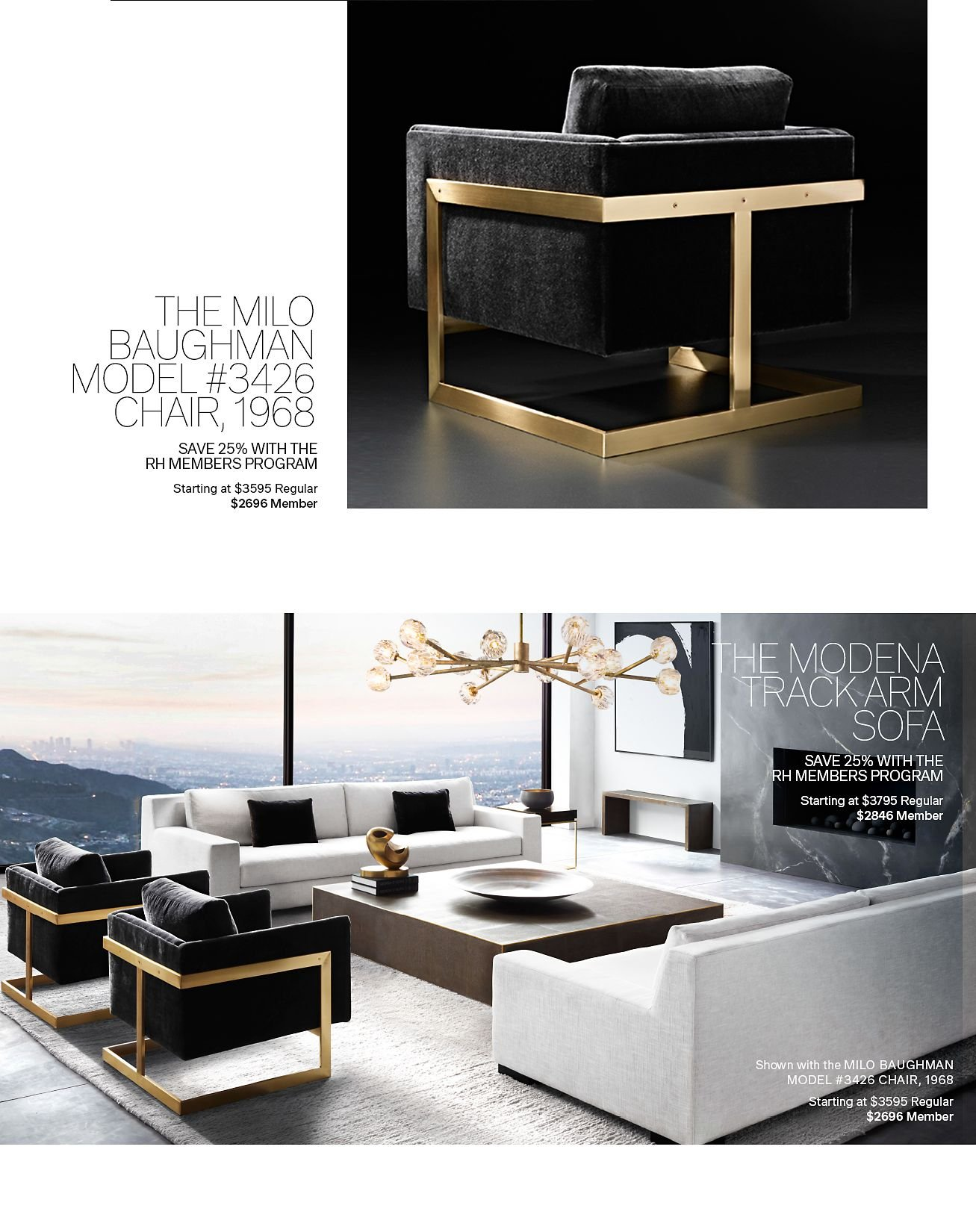 Restoration Hardware Rh Modern Save 25 On Everything With The Rh Members Program Milled