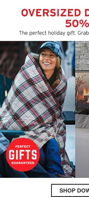 OVERSIZED DOWN THROW 50% OFF| SHOP DOWN THROW