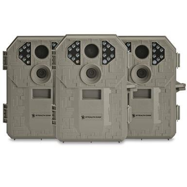 Stealth Cam P14 7MP Trail / Game Camera, 3 Pack