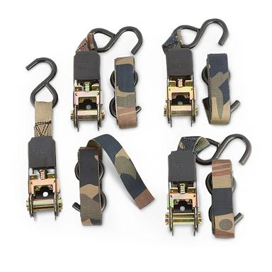 Guide Gear 8' Ratchet Straps, 4 Pack
