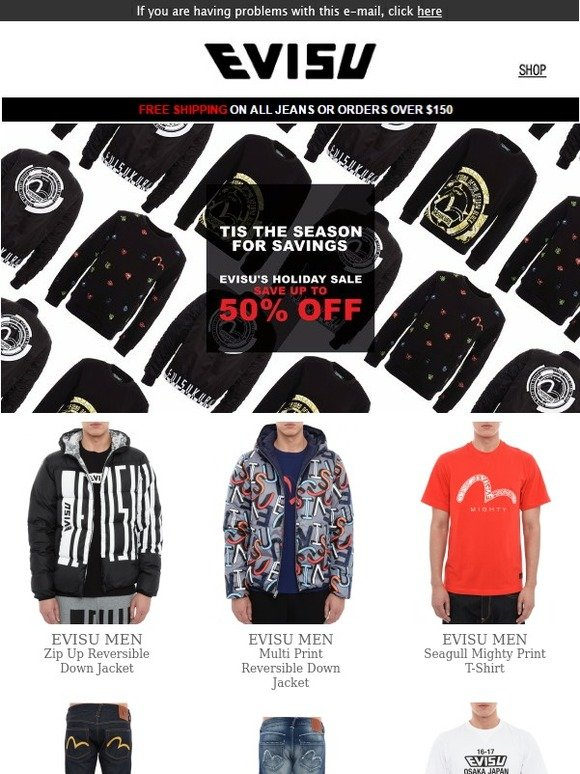 96420471f23a Evisu  Save Now On Some Of The Best Holiday Looks