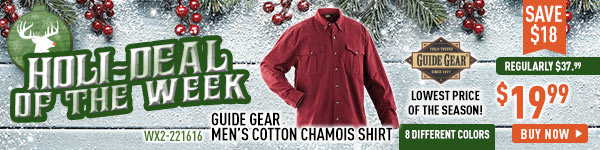 Holi-Deal of the Week - Guide Gear Men's Cotton Chamois Shirt